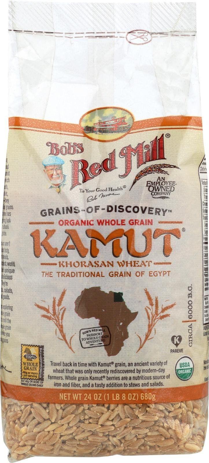 Bob's Red Mill Organic Kamut(r) Khorasan Wheat Berries - 24 Oz - Case Of 4