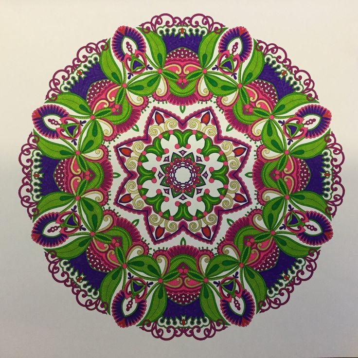 Mijn eerst gekleurde mandala