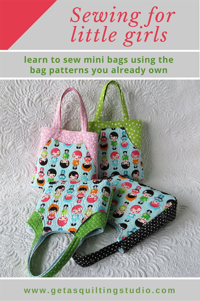 Learn to sew mini bags using the bag patterns you already own. via @getagrama