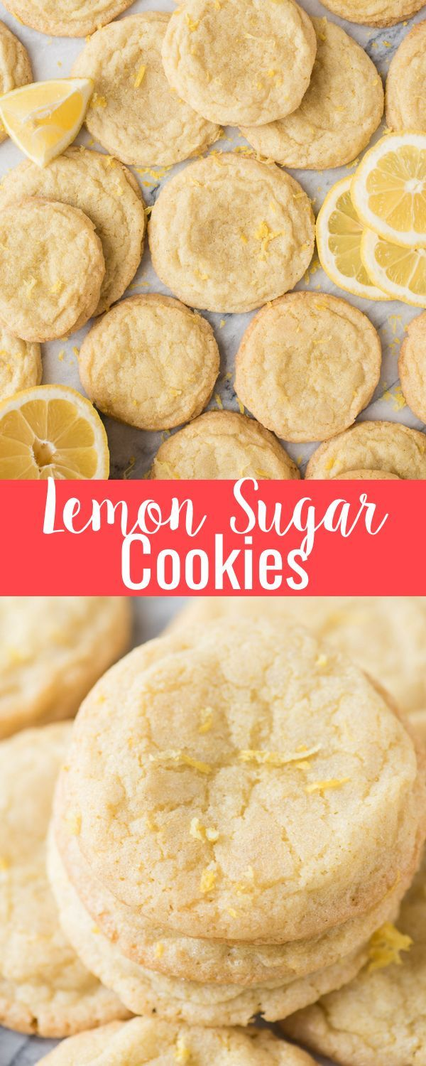 Lemon Cookies Rolled In Sugar A Citrus Summer Cookie Crazy For