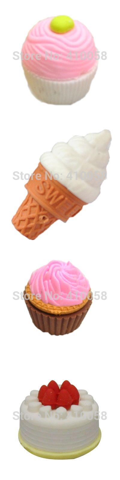 Summer hotselling delicious ice cream eraser  ,school eraser set ,children eraser wholesale for super market and community shop