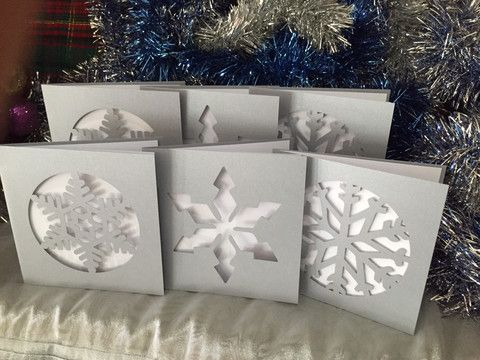 Snow Flake Christmas Card Pack – Swank Creations