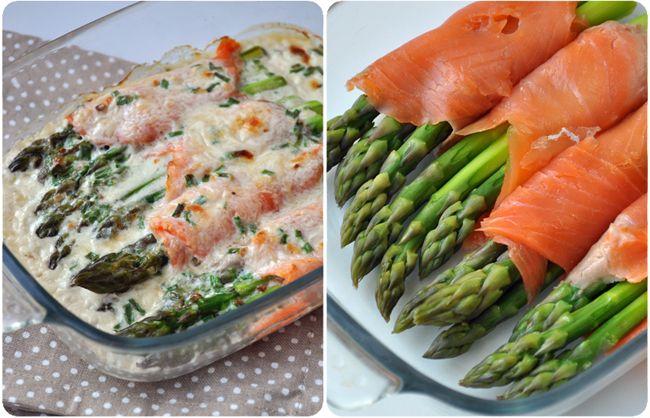 Roulés dasperges au saumon gratinés au parmesan