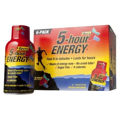 5-Hour Energy Berry Energy Shot - 6 Pack (1.93 fl oz)