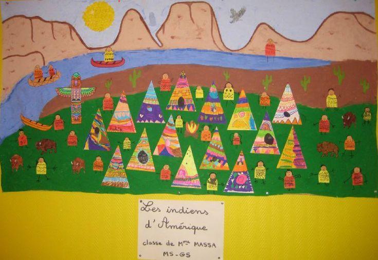 Pendant la 4ème période (mars-avril), nous avons travaillé sur le thème des indiens d'Amérique. Voici la fresque réalisée par les élèves de...
