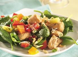 Tropical Salsa-Topped Chicken SaladTropical Fruit, Tropical Salsatop, Chicken Salads, Tropical Salsa Tops, Salsatop Chicken, Chicken Salad Recipe, Healthy Recipe, Salsa Tops Chicken, Chicken Breast