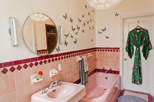 adesivo borboletas, decoração banheiro