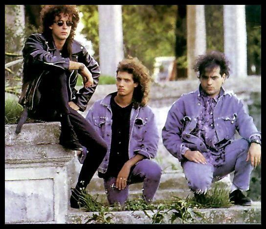 Soda Stereo, sesión de fotos en Buenos Aires. Año 1987.