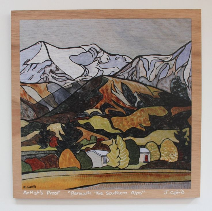 """Beneath The Southern Alps"" Plywood Print"