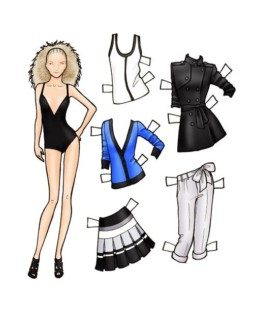 (⑅ ॣ•͈ᴗ•͈ ॣ)♡                                                             ✄Fashion paper dolls | final fashion » paper doll – SEARS Attitude SS10