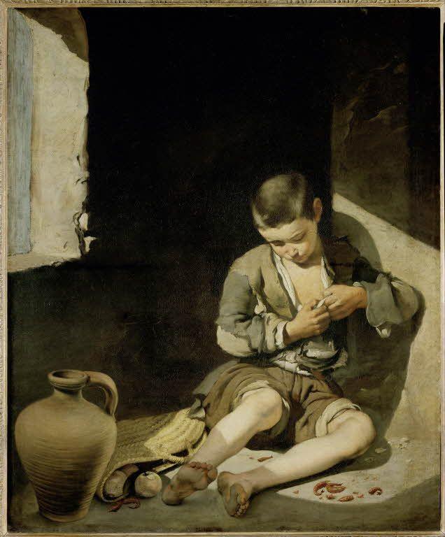Le Jeune Mendiant / The Young Beggar de Bartolomé Esteban MURILLO. Département des Peintures / Department of Paintings. © 2009 Musée du Louvre / Erich Lessing. Français http://www.louvre.fr/oeuvre-notices/le-jeune-mendiant - English http://www.louvre.fr/en/oeuvre-notices/young-beggar