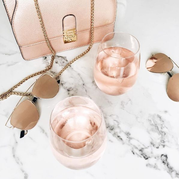 Brushed champagne aviators