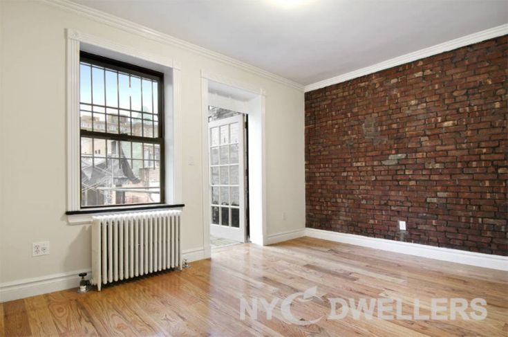 I'm not sure how much wall space we actually need, but the brick and the plaster are interesting juxtapositions for NYC apartment. new york apartments craigslist - Google Search