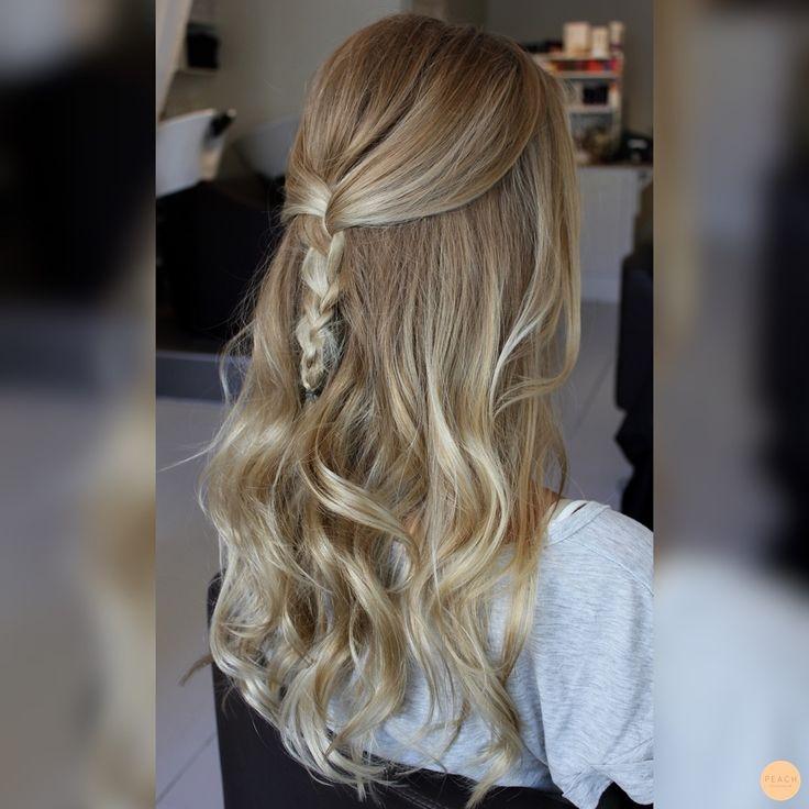 Half braided hair