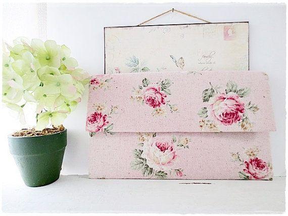 Large envelope clutch bridesmaids clutch by KawaiiSakuraHandmade