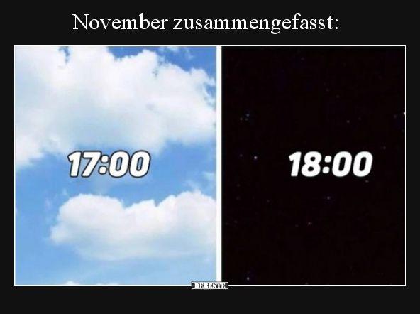 November Zusammengefasst Lustig Witze Lustige Bilder