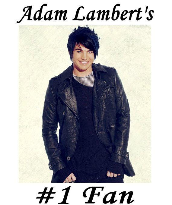 Adam Lambert 1 Fan TShirt by CelebrityTees on Etsy