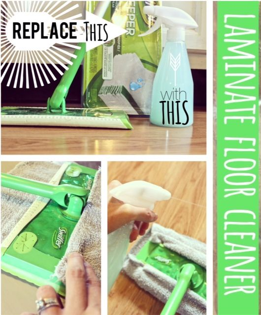 17 best images about floor cleaner on pinterest surface cleaners homemade and castile soap - Make laminate floor cleaner ...