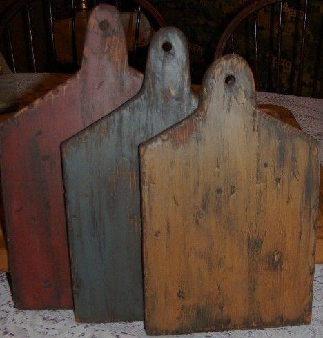 primitive+cutting+board | Primitive Bread Board Cutting Board Set of 3 by thespiritofcountry