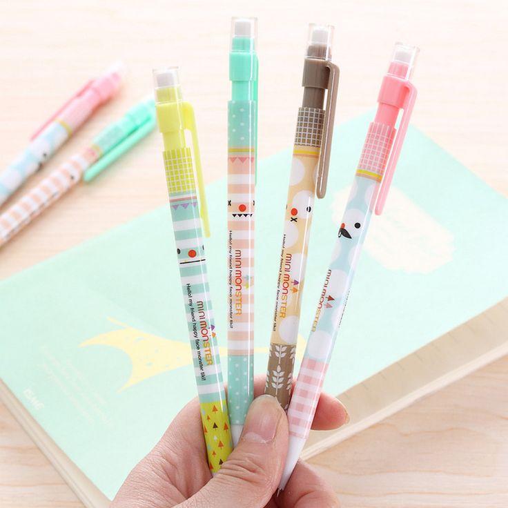 Новый 0.5 мм Симпатичные Kawaii Пластиковые Механический карандаш Прекрасный Усы Hello Kitty Автоматическая Ручка для Написания Рисования Бесплатная доставка 287 купить на AliExpress
