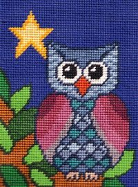 """Tapestry Needlepoint Kit - Little Owl SI09 Design: 8"""" x 6"""" Canvas: 12"""" x 10"""" Price £22.95 Pinned on 24/12/14"""
