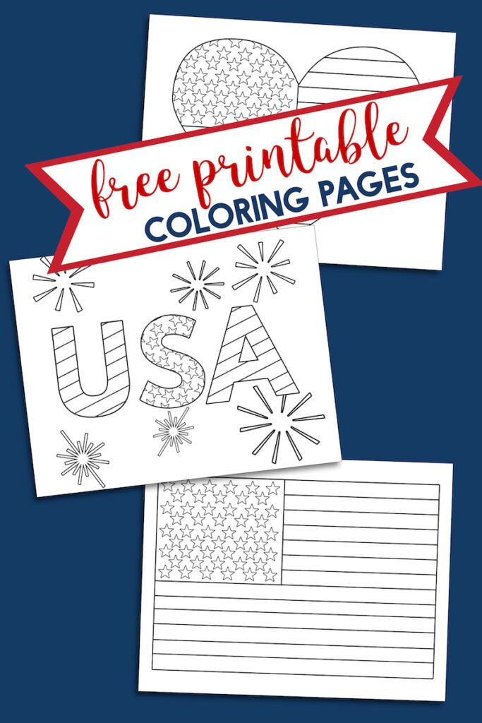 Free Printable 4th Of July Coloring Pages American Flag Coloring