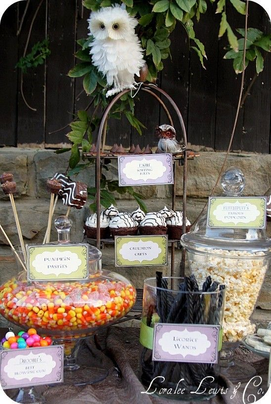 Harry Potter candy table