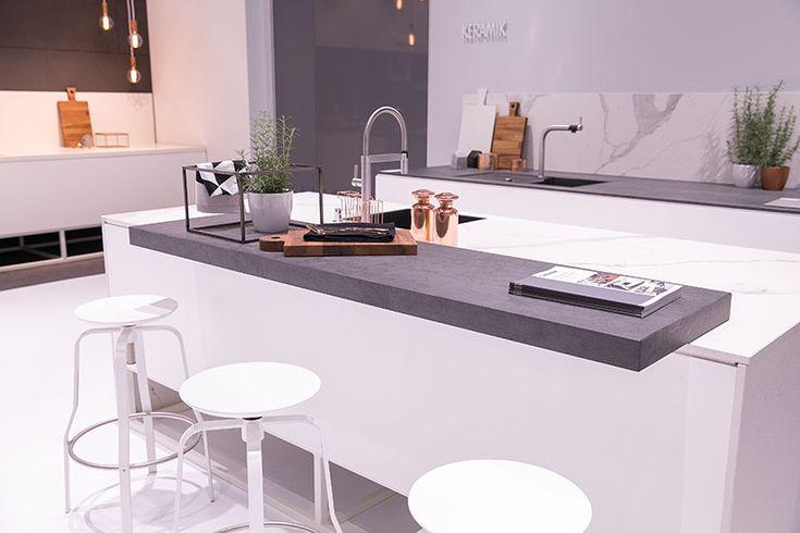k chentheke ideen kitchen wei e k che scandinavische k che arbeitsplatte theke k che. Black Bedroom Furniture Sets. Home Design Ideas