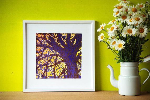 Handprinted Linocut Art by Eveline van der Eijk