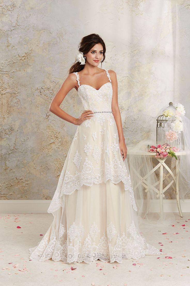 Best 25 modern vintage by alfred angelo ideas on pinterest alfred angelo 8535 lace detachable a line wedding dress bridal expressions ombrellifo Images