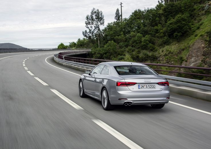 """Audi A5 Coupé has more technology than before.Get a look from the backround with the """"simply"""" A5."""