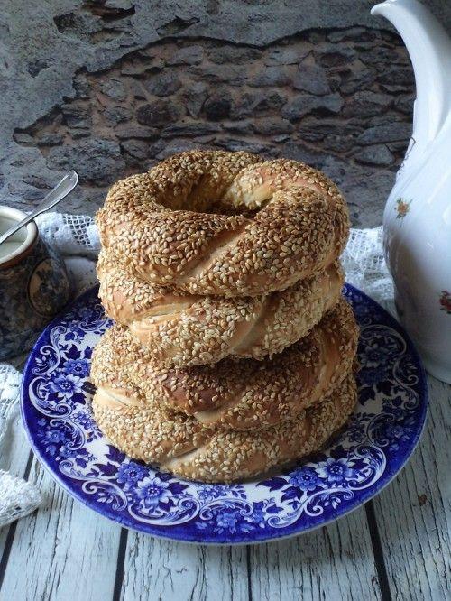 Simit (török szezámos perec) recept
