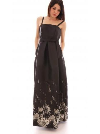 Lanacaprina - A-line black gown in taffetà