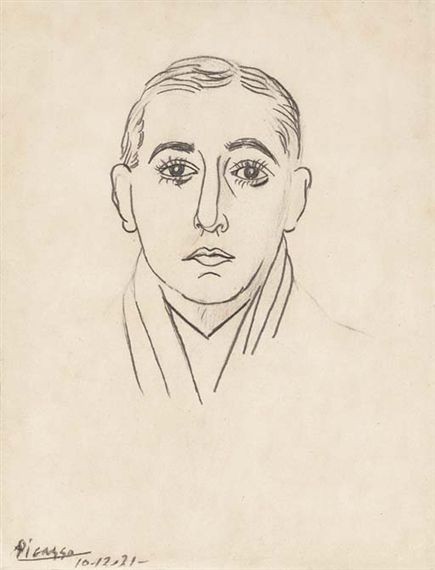 Pablo Picasso, Portrait de Vicente Huidobro, 1900