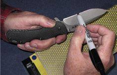 """Ever heard of the """"Sharpie Method"""" when it comes to knife sharpening? If you're starting out in knife sharpening and are wonder if you're doing it right, here's a simple trick to see if you're on the right track. http://www.blademag.com/blog/4-steps-to-perfect-freehand-sharpening"""
