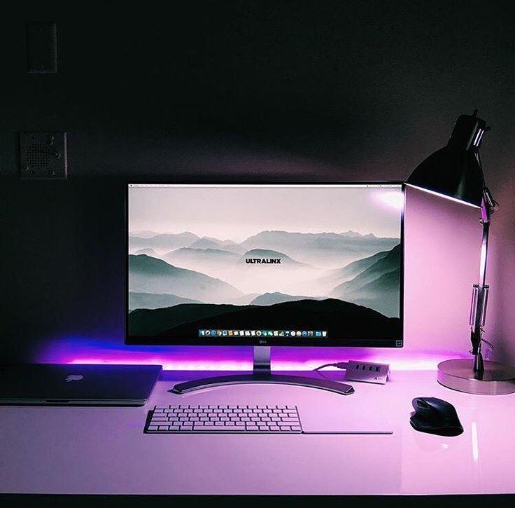 Computer Setups best 25+ desk setup ideas on pinterest | office desk accessories