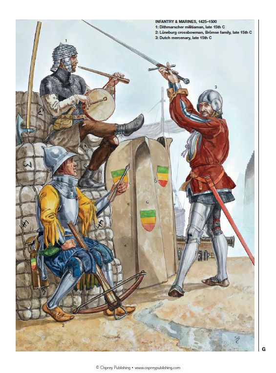 Forces of the Hanseatic League; infantry & marines, 1425-1500