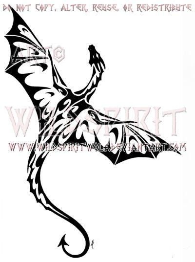Tek Dragon Tribal Design by *WildSpiritWolf on deviantART