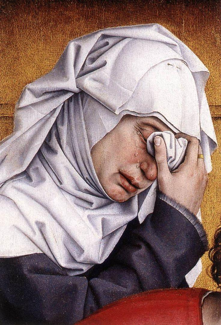 """""""Descent from the Cross (Detail)"""" (c.1435) by Rogier van der Weyden"""