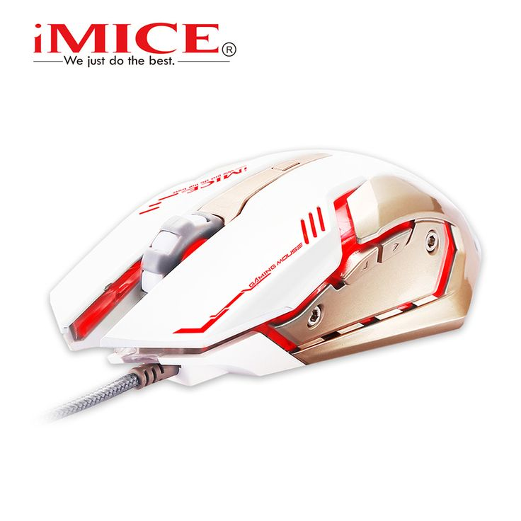2016 Estone iMice V8 PC Computer Mouse Macro 4000DPI Led Optical 6D USB Wired game Gaming Mouse gamer For Laptop Upgrade V6