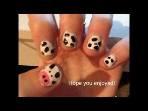 Cow nails by iceskate700 on youtube