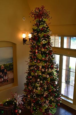 Decorating whimsical tree and chandelier