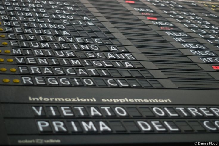 Roma Termini Sign