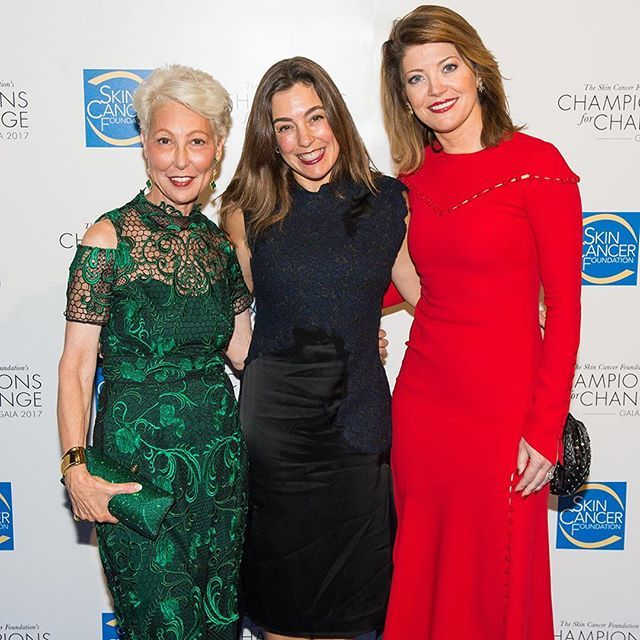 Taking a stand in the fight against skin cancer, President of The Skin Cancer Foundation Deborah S. Sarnoff, MD, Kendra Reichenau, Coolibar CEO and melanoma warrior and advocate Norah O'Donnell, co-anchor of CBS This Morning, come together.