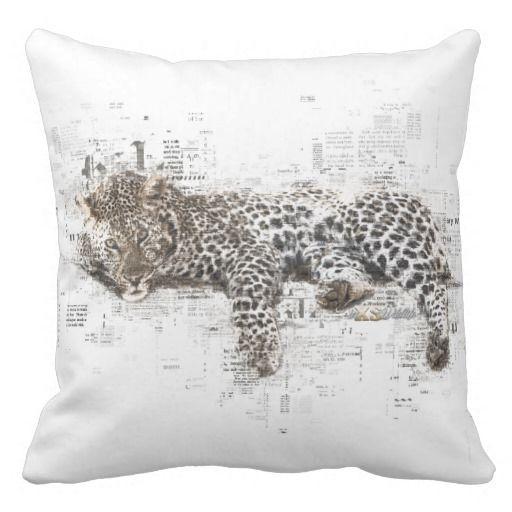 Leopard Outdoor Throw Pillow