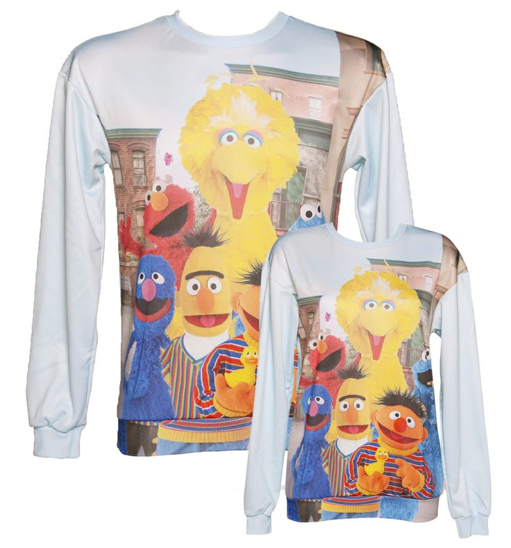 EXCLUSIVE Unisex All Over Print Sesame Street Character Print Jumper