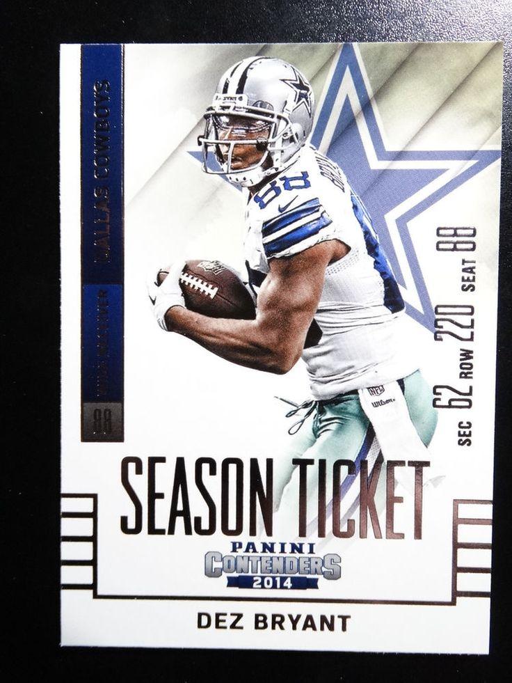 2014 Panini Contenders Season Ticket #35 Dez Bryant Dallas Cowboys Card  #DallasCowboys