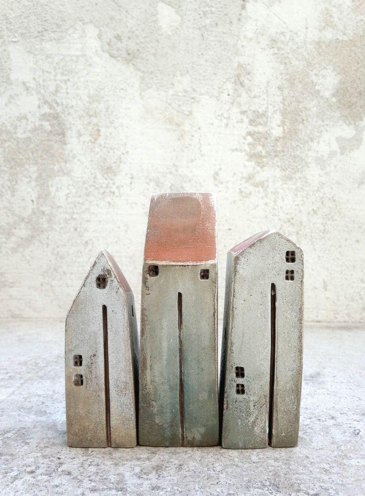 Ceramic houses,miniature houses, clayhouse,sculpture, handmade ceramic houses,Christmas gift, housewarming gift, home decor, unique present,gift ideas,handmade gift.pottery.houses,love.etsy shop,vesnagusmanart