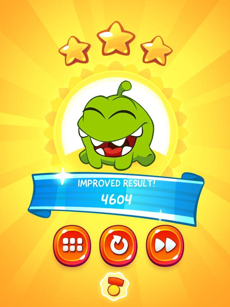 CUT the ROPE 2 | Secondary Objective Results Screen | UI, HUD, User Interface, Game Art, GUI, iOS, Apps, Games, Grahic Desgin, Puzzle Game, Brain Games, Zeptolab | www.girlvsgui.com