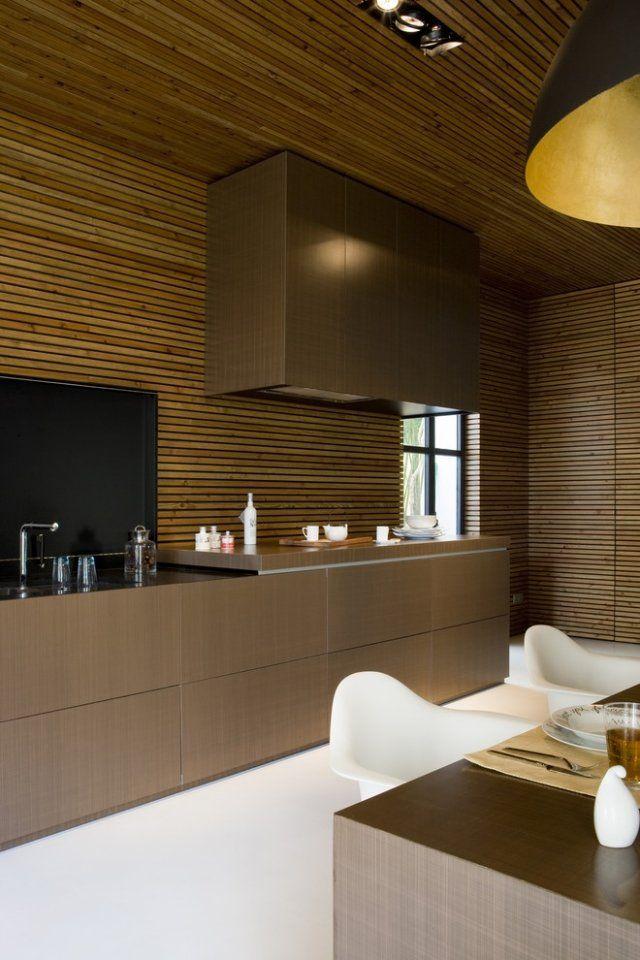 Moderne küchenmöbel ideen für decken und wandgestaltung der küche